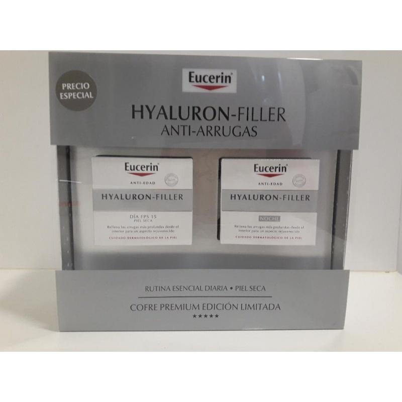 Cofre Eucerin Hyaluron-Filler Piel Seca Crema Día 50ml+ Noche 50ml+ 2 Ampollas 5ml