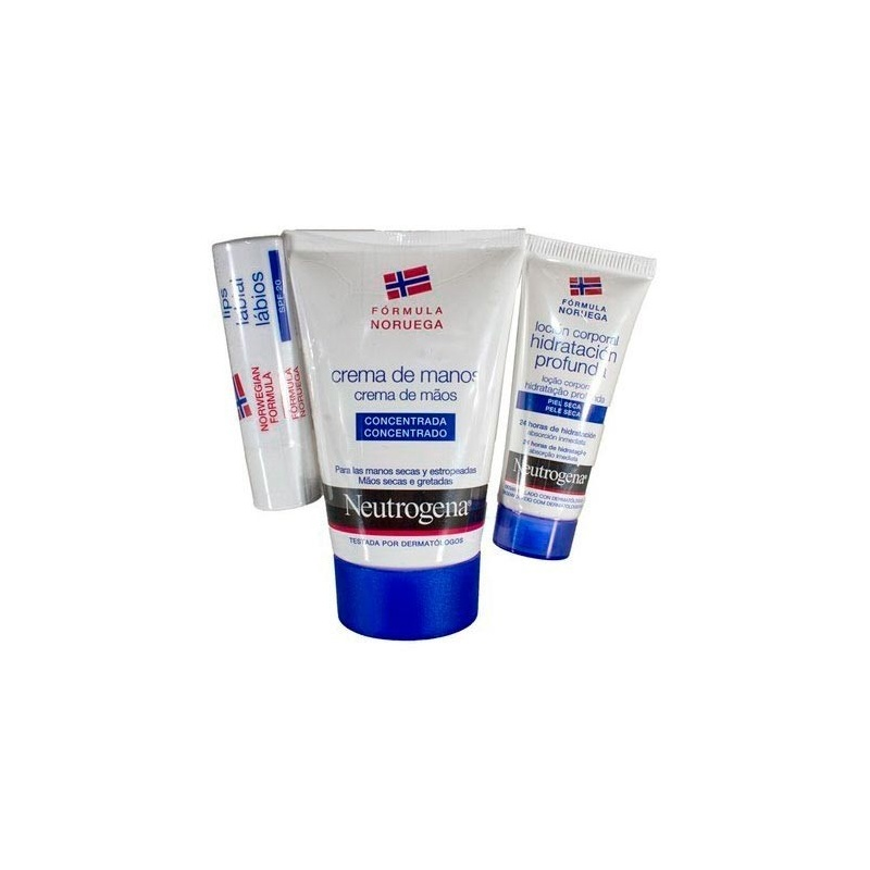 Neutrógena Crema manos concentrada 50ml + Stick labial SPF20 + locion