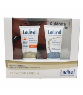 Ladival Cofre Antiedad Antimanchas Colos SPF50+ 50ml y Sérum Regenerador con Fotoliasa 50ml