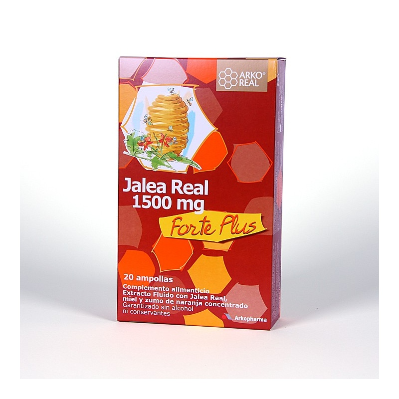 Arkoreal Jalea Real Forte Plus 1500mg 20 ampollas