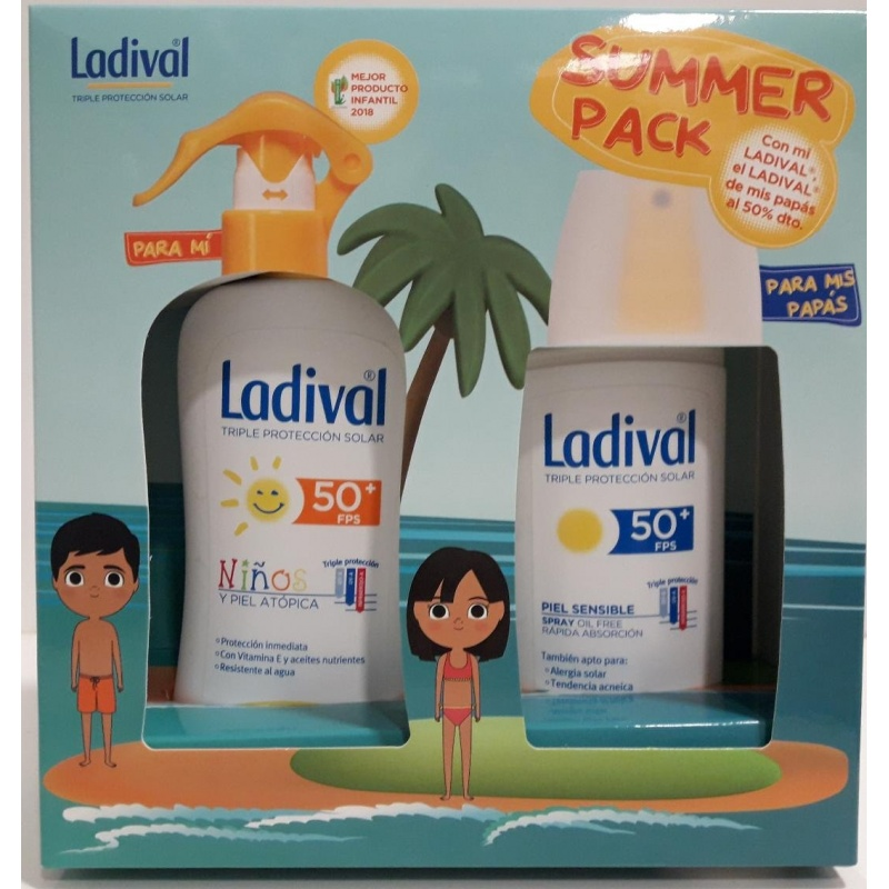 Ladival Summer Pack Spray Niños 50+ 200ml+ Spray Adulto 50+ 150ml