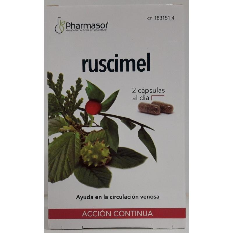 Ruscimel Pharmasor 30 Cápsulas Acción Continua