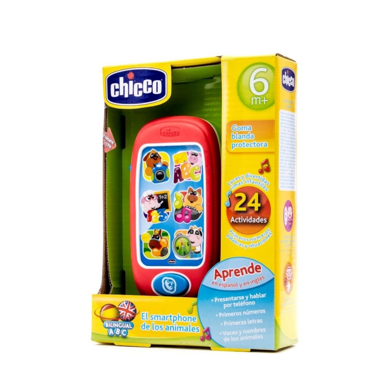 Chicco Smartphone de los Animales Bilingüe 6m+
