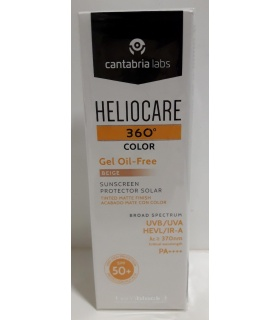 Heliocare 360 SPF50+ Gel Oil Free Color Beige 50ml