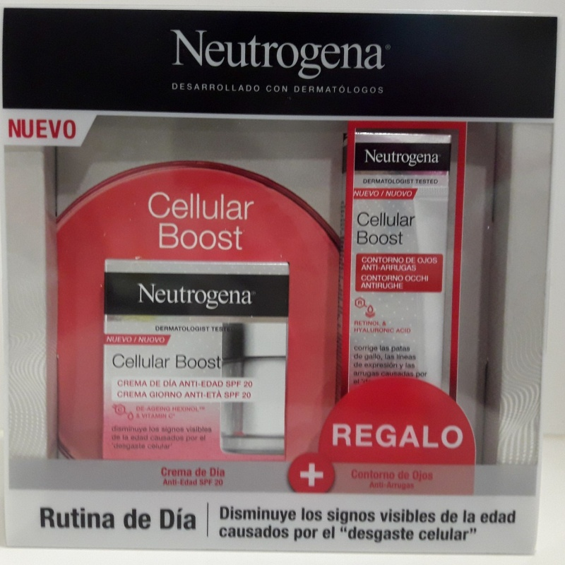 Neutrogena Cellular Boost Crema Antiedad Día 50ml+Contorno