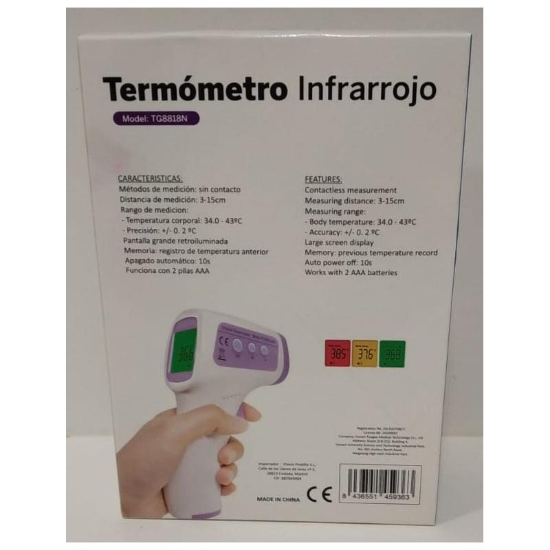 Termómetro Digital Infrarrojo Sin Contacto Techealth