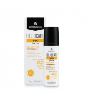 Heliocare 360 SPF50+ Gel Oil Free Color Bronze+Endocare C Oil-Free 7 amp