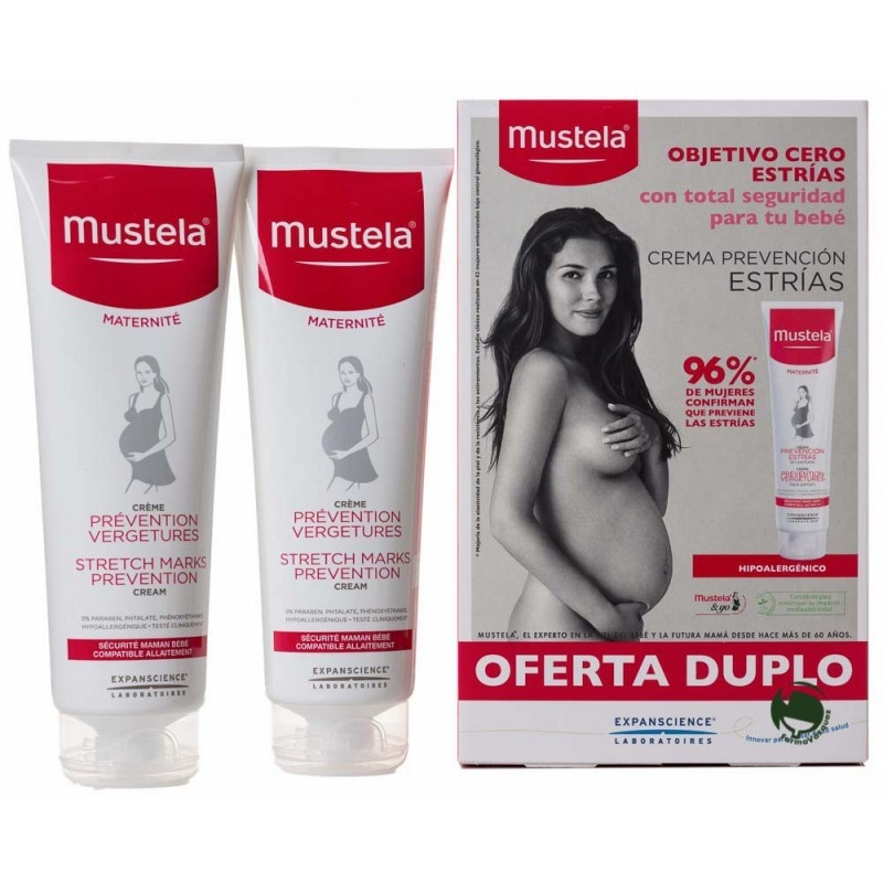 Mustela 9 Meses Antiestrías Doble Acción 2x250ml