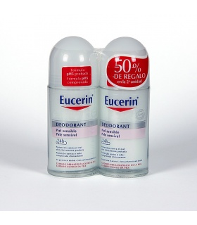 Duplo Desodorante Eucerin roll-on Piel Sensible