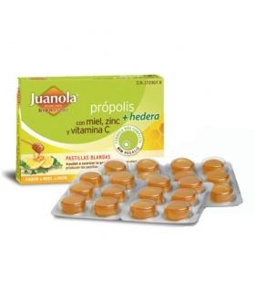 Juanola Própolis Miel, Zinc, Vitamina C y Hedera Sabor Miel y Limón 24 Pastillas