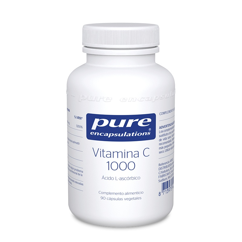 Pure Encapsulations Vitamina C 1000, 90 Cápsulas