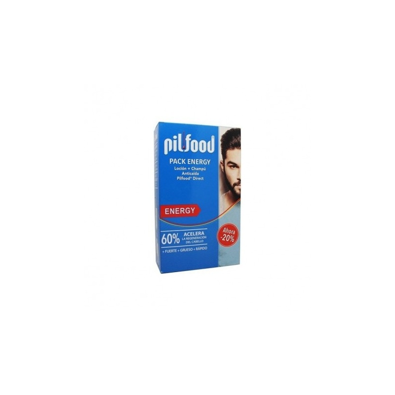 Pilfood Pack Energy Champú + Loción Anticaída