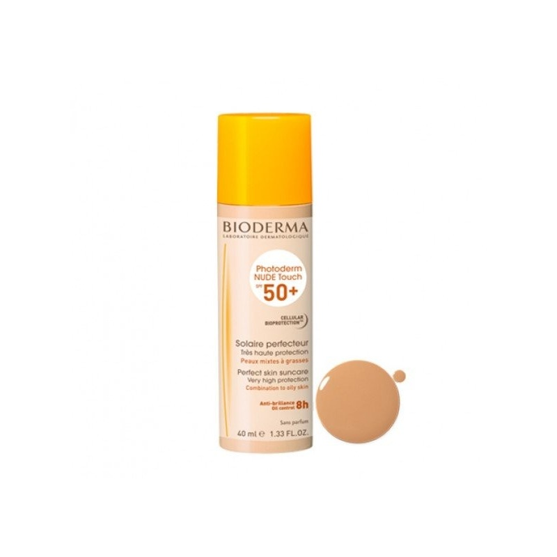 Photoderm Nude Touch Bioderma SPF50+ Color Dorado 40ml