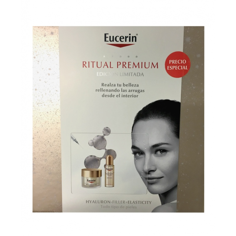 Cofre Eucerin Elasticity Filler Crema Día 50ml+ Aceite Facial 50ml