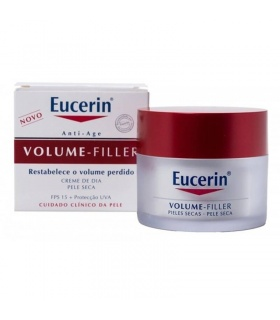 Pack Eucerin Volume Filler Día Piel Seca + Agua Micelar + Sun Fluído Antiedad 5ml